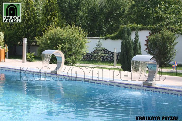 Kralkaya Peyzaj Havuz Fıskiye Sist. ve Pompa Mim. Müh. İnş. Ltd. Şti  – Apaydın Açık Hava Stüdyosu / Amasya:  tarz Bahçe, Akdeniz