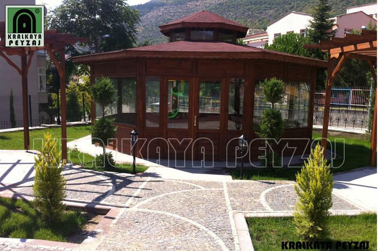Kralkaya Peyzaj Havuz Fıskiye Sist. ve Pompa Mim. Müh. İnş. Ltd. Şti  – Amasya Belediyesi / Amasya - Park Uygulaması:  tarz Bahçe, Akdeniz