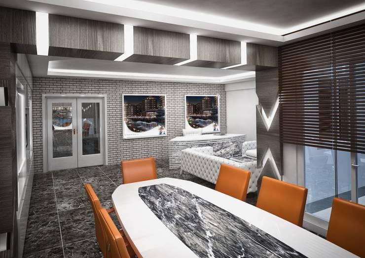 Point Dizayn – Kalaycıoğlu İnşaat Satış Ofisimiz:  tarz Ofisler ve Mağazalar, Modern