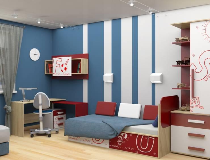 Дизайн-проект двухкомнатной квартиры: Детские комнаты в . Автор – Студия дизайна и декора Светланы Фрунзе,