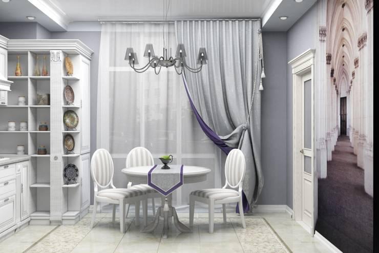 Дизайн-проект квартиры в классическом стиле: Столовые комнаты в . Автор – Студия дизайна и декора Светланы Фрунзе