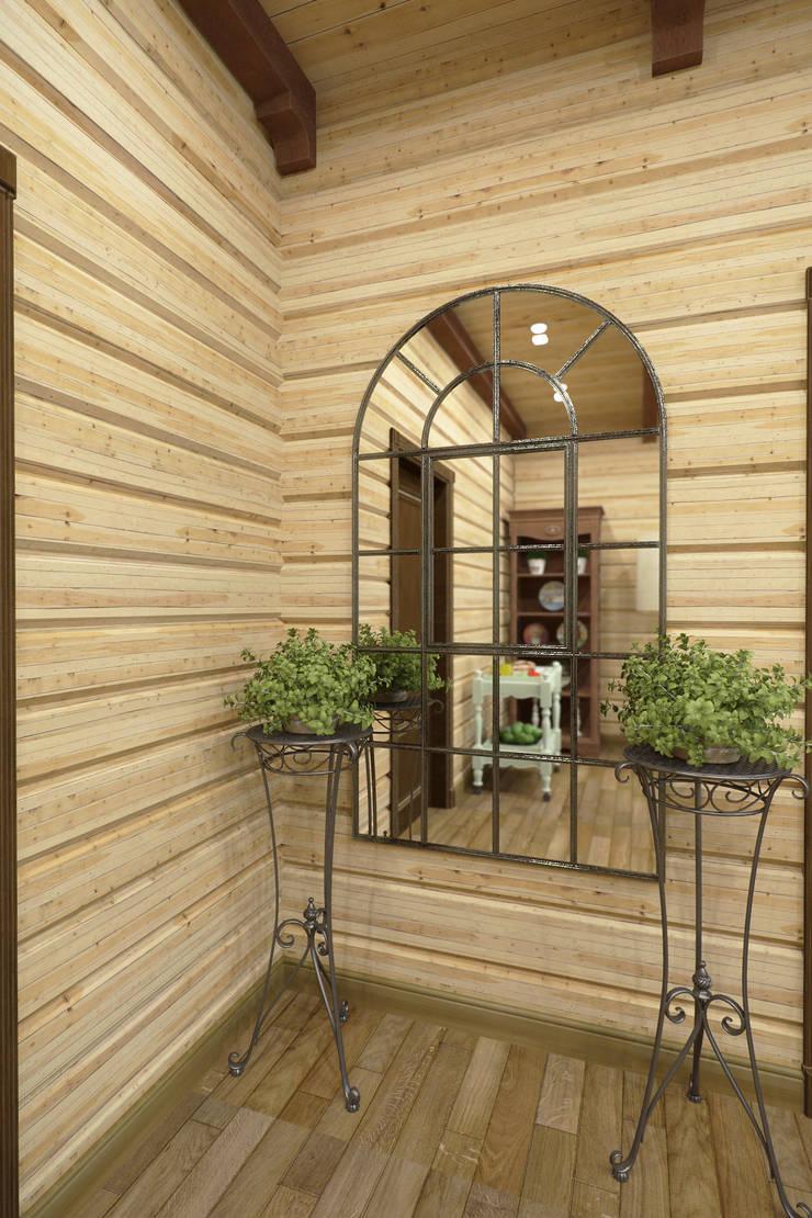 Дизайн-проект деревянного дома: Коридор и прихожая в . Автор – Студия дизайна и декора Светланы Фрунзе