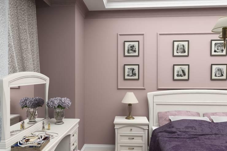 Дизайн-проект квартиры в классическом стиле: Спальни в . Автор – Студия дизайна и декора Светланы Фрунзе