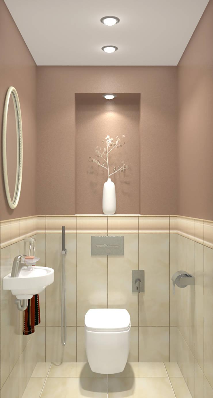 Дизайн-проект двухкомнатной квартиры: Ванные комнаты в . Автор – Студия дизайна и декора Светланы Фрунзе,
