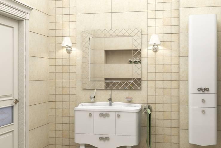 Дизайн-проект квартиры в классическом стиле: Ванные комнаты в . Автор – Студия дизайна и декора Светланы Фрунзе