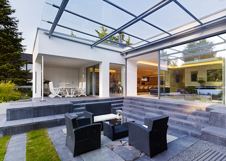 Case in stile in stile Minimalista di Gritzmann Architekten