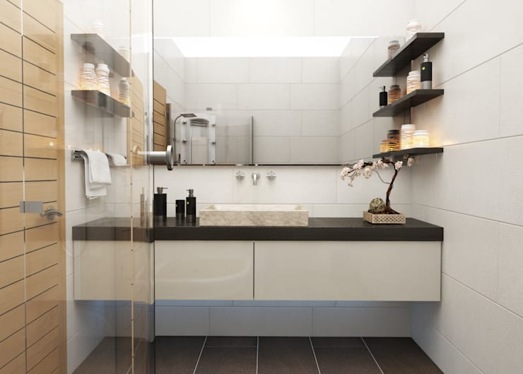 Bathroom by ROAS ARCHITECTURE 3D DESIGN AGENCY,
