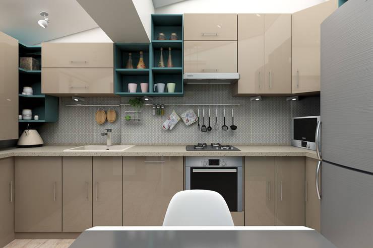 Мансардная квартира: Кухни в . Автор – Студия дизайна и декора Светланы Фрунзе,