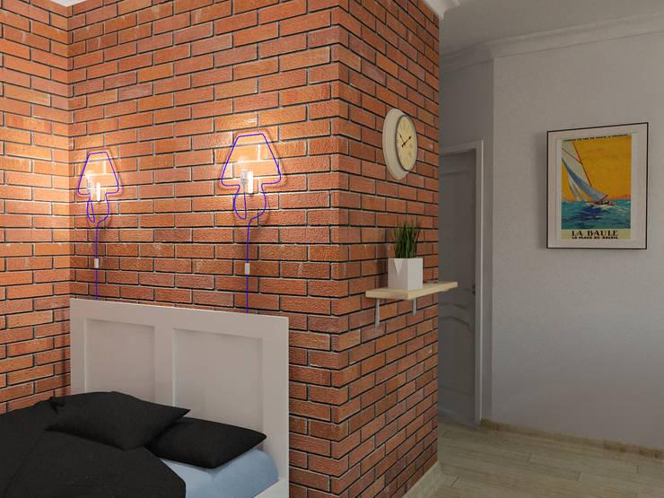 Студия дизайна и декора Светланы Фрунзеが手掛けた寝室