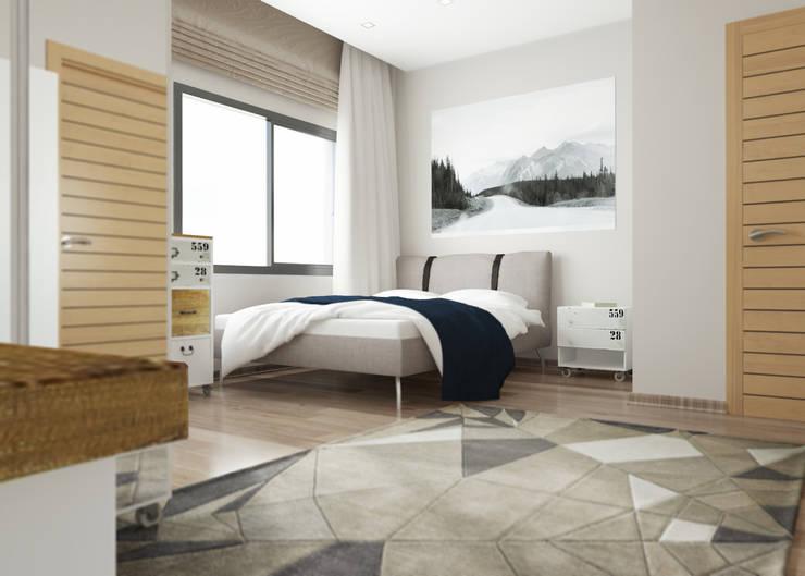 Habitaciones de estilo  por ROAS ARCHITECTURE 3D DESIGN