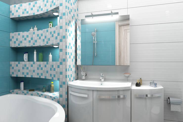 Мансардная квартира: Ванные комнаты в . Автор – Студия дизайна и декора Светланы Фрунзе,