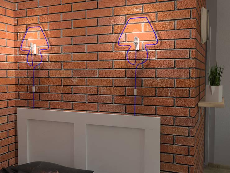 Квартира-студия в скандинавском стиле: Спальни в . Автор – Студия дизайна и декора Светланы Фрунзе