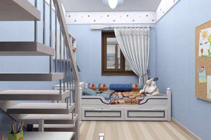 Мансардная квартира: Детские комнаты в . Автор – Студия дизайна и декора Светланы Фрунзе,