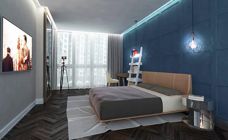 Квартира Липки 16: Спальни в . Автор – INCUBE Алексея Щербачёва