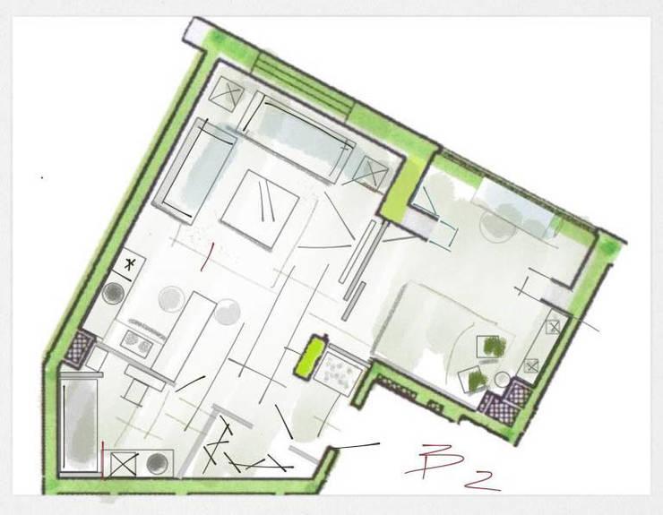 Планировка квартиры в стиле лофт. Вариант 2:  в . Автор – Дизайн студия Ольги Кондратовой