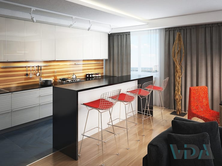 Современная Гостинная: Кухни в . Автор – VDAHome