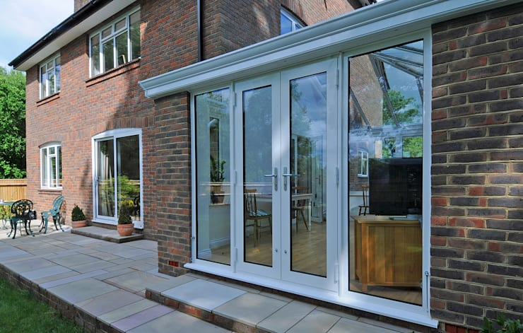 Aluminium Garden Room Modern style conservatory by ROCOCO Modern