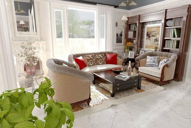 Interior 3D Design Living Room :  Living room by azvission