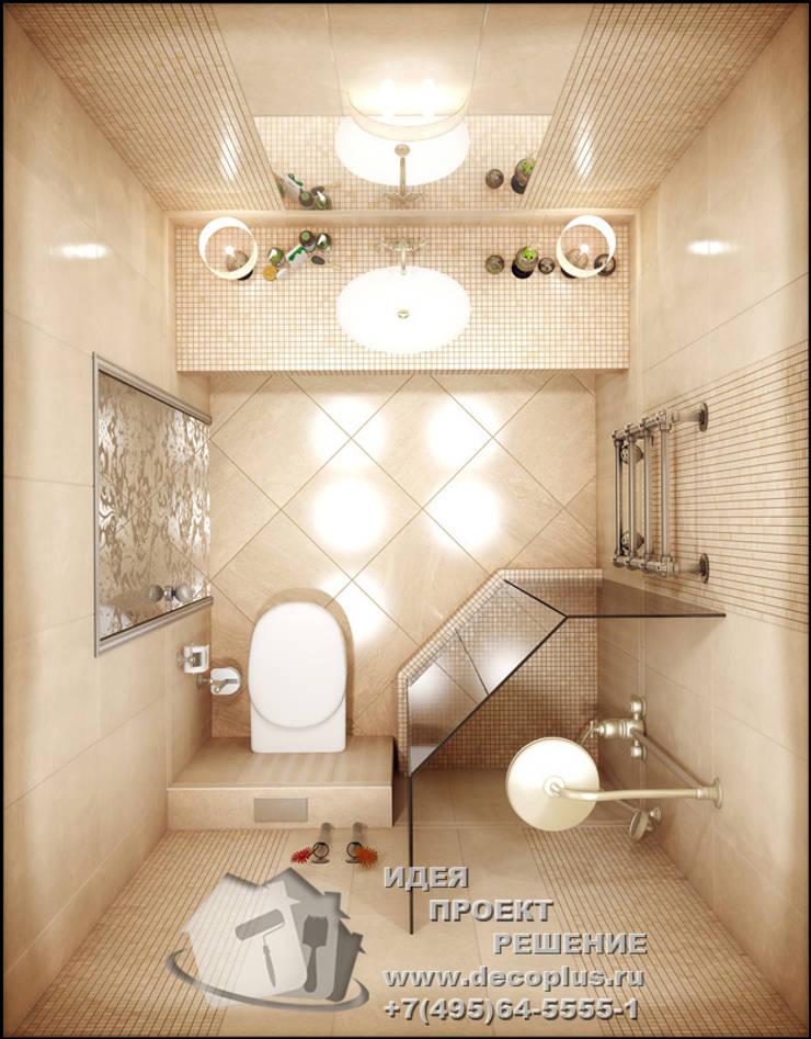 Дизайн-проект интерьера современного санузла: Ванные комнаты в . Автор – Бюро домашних интерьеров,