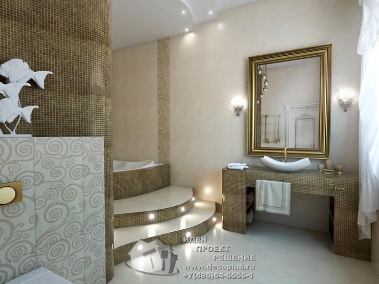 Бронзовые акценты в интерьере ванной: Ванные комнаты в . Автор – Бюро домашних интерьеров,