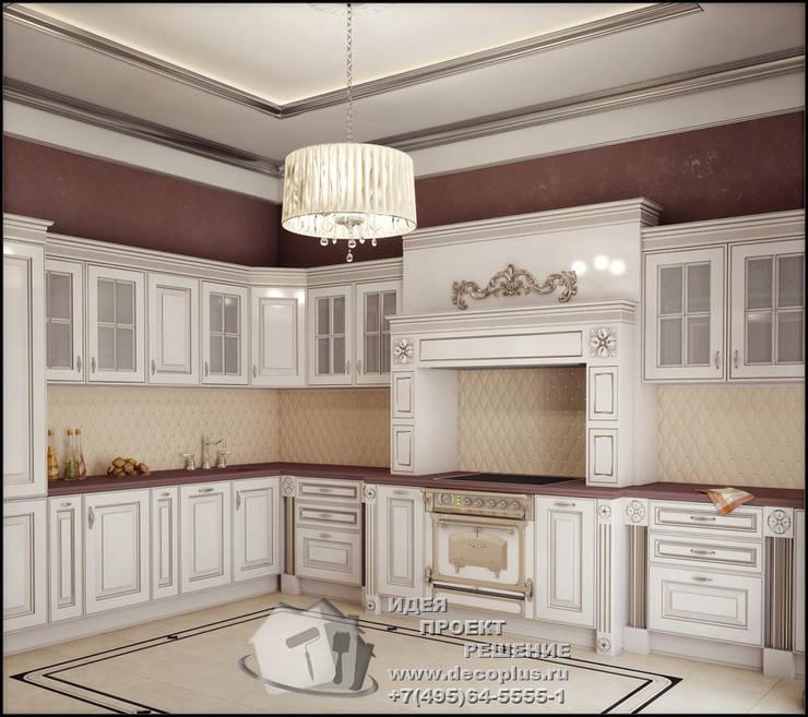 Бежево-коричневая кухня в стиле арт-деко: Кухни в . Автор – Бюро домашних интерьеров,
