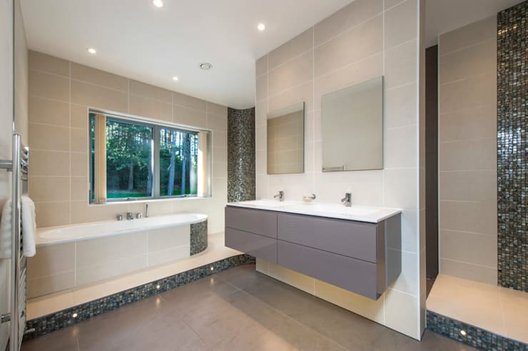 Bingham Avenue, Evening Hill, Poole:  Bathroom by David James Architects & Partners Ltd