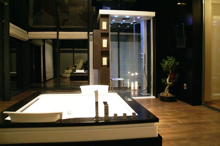 Dom z basenem w Krakowie: styl , w kategorii Łazienka zaprojektowany przez Architektura Wnętrz Daria Zaremba