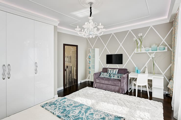 Дизайн интерьера квартиры, ЖК GOLDEN PARK: Спальни в . Автор – ELIZABETH STUDIO DESIGN