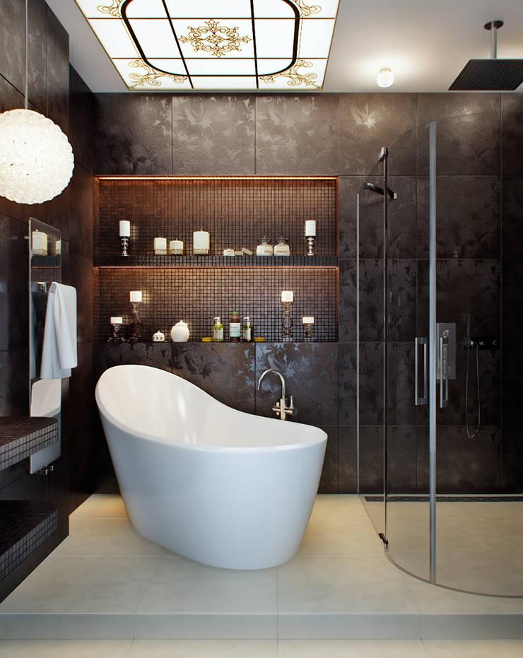 Квартира на Московском проспекте: Ванные комнаты в . Автор – EJ Studio
