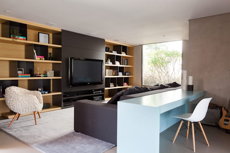 Salones de estilo minimalista de Consuelo Jorge Arquitetos