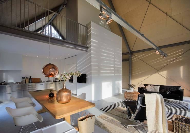 Projekty,  Salon zaprojektowane przez Blok Kats van Veen Architecten