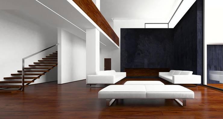 Вилла в Анапе в стиле минимализм (Анжелика Марзоева): Гостиная в . Автор – Галерея интерьеров 'Angelica Marzoeva'
