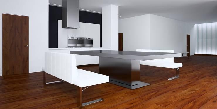 Вилла в Анапе в стиле минимализм (Анжелика Марзоева): Кухни в . Автор – Галерея интерьеров 'Angelica Marzoeva'