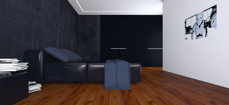 Вилла в Анапе в стиле минимализм (Анжелика Марзоева): Спальни в . Автор – Галерея интерьеров 'Angelica Marzoeva'