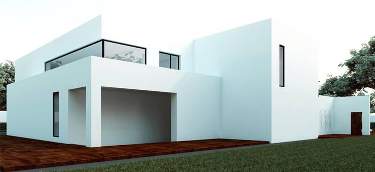 Вилла в Анапе в стиле минимализм (Анжелика Марзоева): Дома в . Автор – Галерея интерьеров 'Angelica Marzoeva'