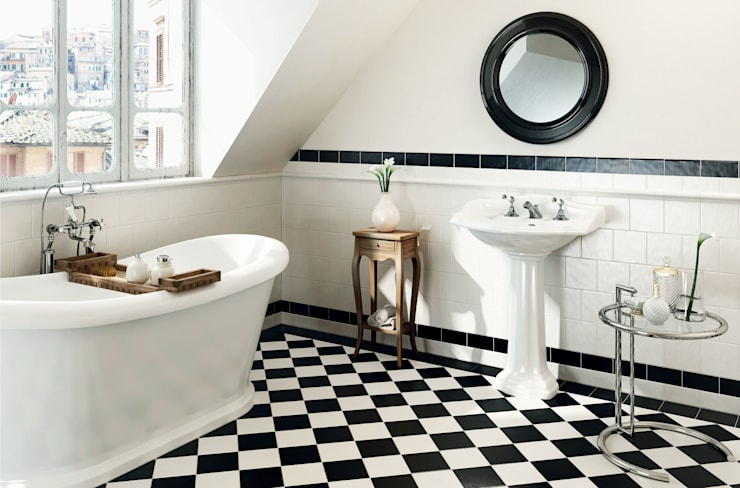 EPOQUE: Bagno in stile in stile Coloniale di ELIOS ceramica