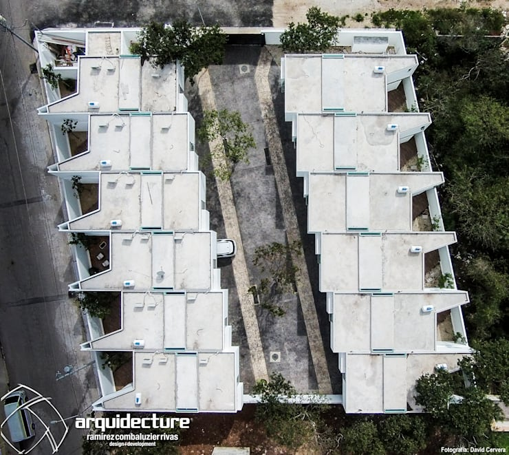 Vista de Conjunto: Casas de estilo  por Grupo Arquidecture
