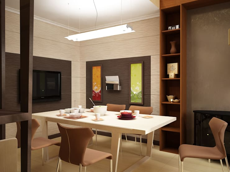 Столовая: Столовые комнаты в . Автор – Anfilada Interior Design, Минимализм