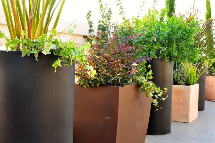Projekty,  Balkon, weranda i taras zaprojektowane przez ésverd - jardineria & paisatgisme
