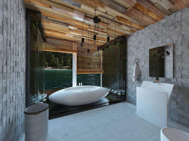Casas de banho tropicais por homify