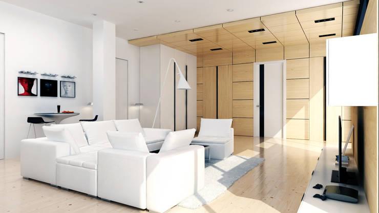 RESIDENCE VILLA INTERIOR / ALMATY: Гостиная в . Автор – Lenz Architects