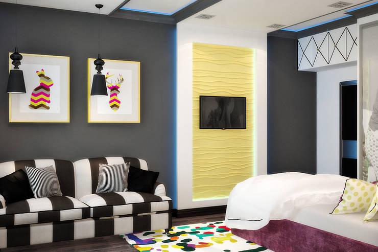 Модная детская для девочки подростка: Детские комнаты в . Автор – Студия дизайна Interior Design IDEAS