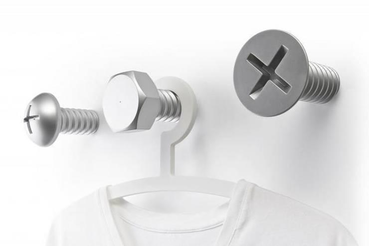 Wieszaki srebrne śruby QUALY: styl , w kategorii Pokój dziecięcy zaprojektowany przez BabyDecor
