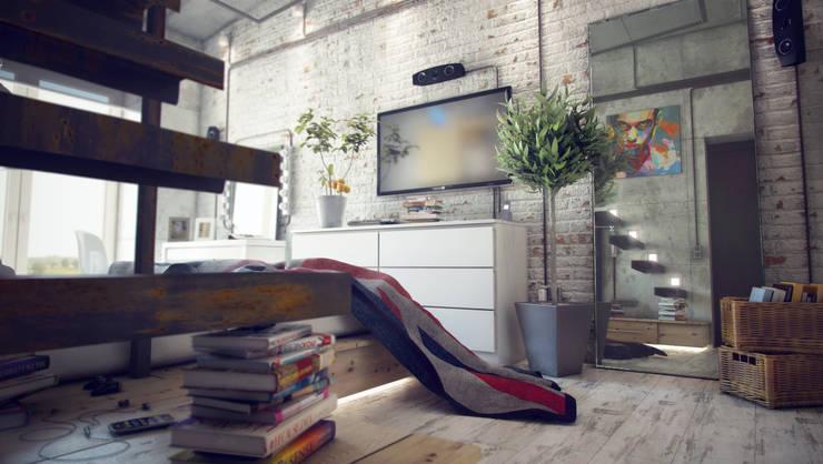 Лофт: Спальни в . Автор – ToTaste.studio