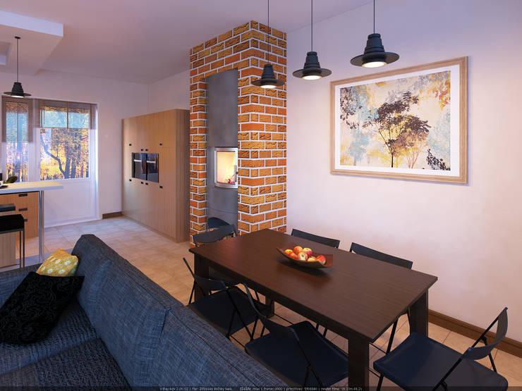 Таун хаус в Сходне : Гостиная в . Автор – МайАрт: ремонт и дизайн помещений