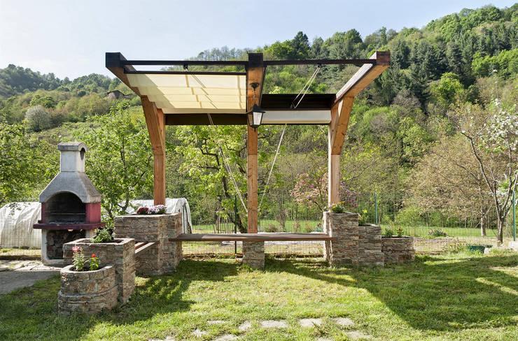 Jardines de estilo  por Federico Vota design, Rústico