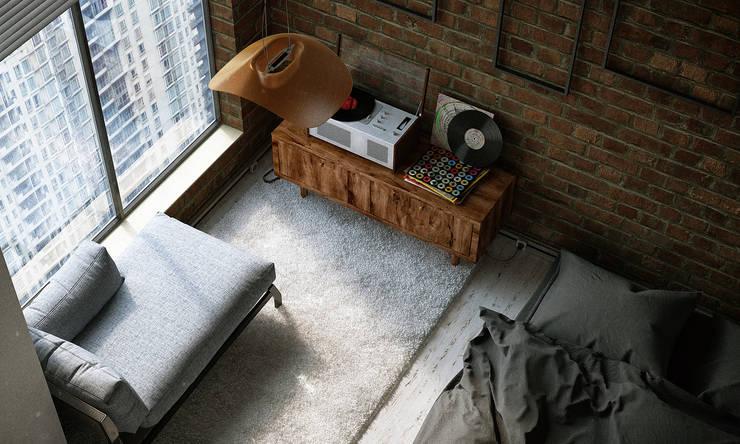 APARTMENT INTERIOR / SHANGHAI: Спальни в . Автор – Lenz Architects,