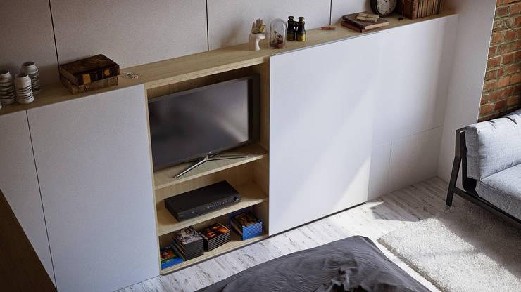 APARTMENT INTERIOR / SHANGHAI: Гостиная в . Автор – Lenz Architects,