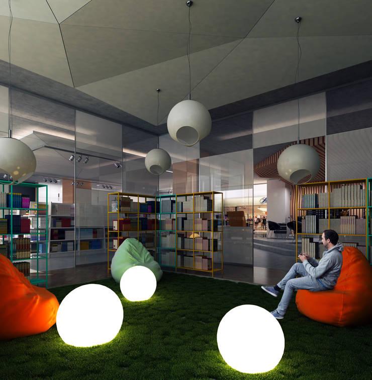 Book Store / Almaty: Коммерческие помещения в . Автор – Lenz Architects, Тропический