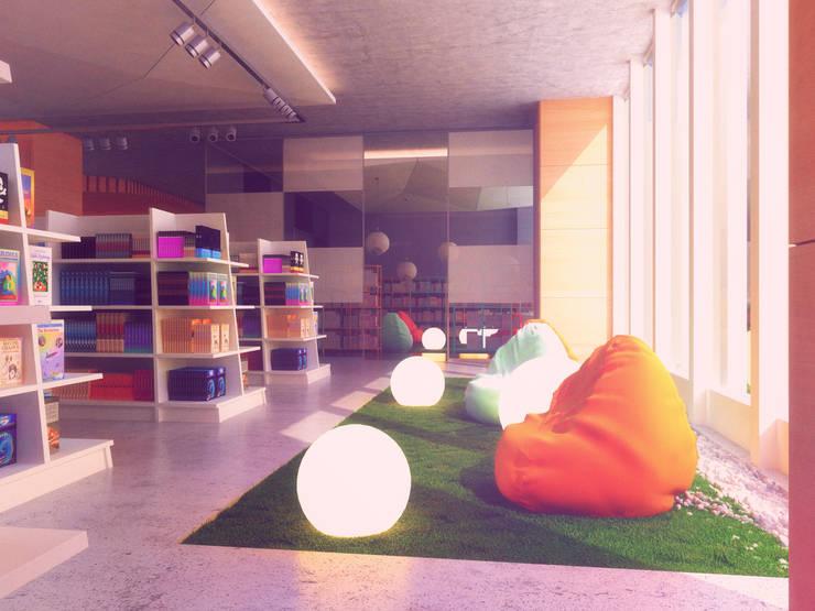Book Store / Almaty: Коммерческие помещения в . Автор – Lenz Architects, Модерн